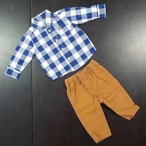 4/$20 or 2/$10 Carter's Shirt & Pants Set (6M)